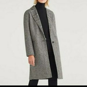 7 For All Mankind Hounds Tooth Wool Blend Coat